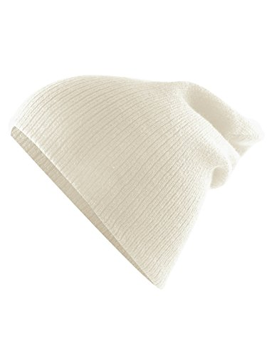 Century Star Kids Boys Girls Knit Cute Cuff Baggy Hip-hop Slouchy Hat Children Basic Beanie Cream White -