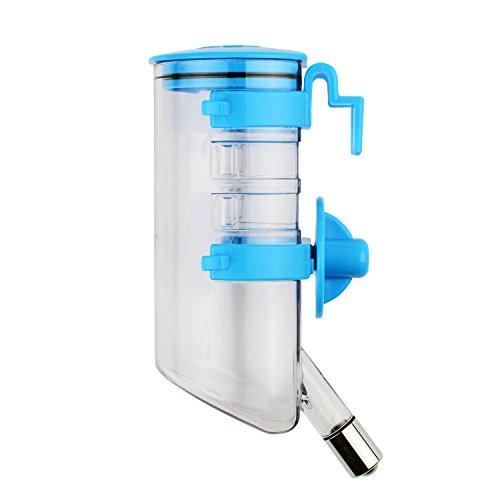 Zelta 12oz Pet Drinking Bottle Automatic Water Dispenser Feeder For Rabbit Cat Dog Small Animals (Blue) by Zelta (Image #5)