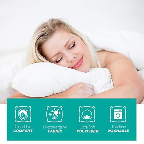 AdorioVix Bed Pillows for Sleeping, Hypoallergenic & Dust Mite Resistant, 100% Cotton Cover, Comfortable Pillows for Sleeping (Standard 20