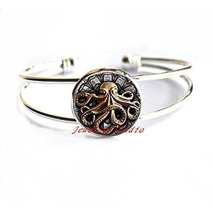 Steampunk Octopus Bracelet Bracelets Octopus Goth Jewelry Best Friends Bracelets,Octopus Bracelets Octopus Jewelry…