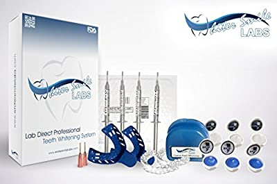 Professional Custom Teeth Whitening Tray Kit. Dental Lab Direct, Custom Made Teeth Whitening Trays Sold By Dentists, U.S.A Dental Lab Made Bleaching Trays with 38% High Intensity Gel FASTEST RESULTS, ZERO SENSITIVITY. Custom Upper and Lower Trays, THE BES