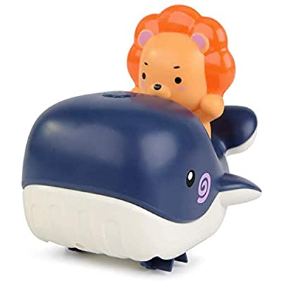 BESTCZ Pool Toys Infant Baby Bathroom Water Toys Clockwork Whale Kids Bathing Toy Infant Swim Wound up Chain Clockwork Toys: Home & Kitchen