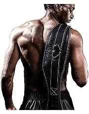 Weight Belts Hard-Drawn Belts Professional Equipment Training Waist Belts Cowhide Belts Weight-Bearing Sports Belts Fitness Belts (Color : Black, Size : 120x16cm)