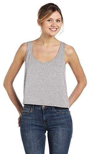 Bella + Canvas Ladies Flowy Boxy Tank, Small, ATHLETIC HEATHER