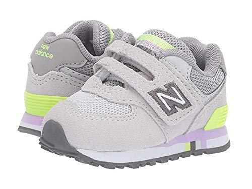 New Balance Kids Baby Girl's 574 Summer Shore (Infant/Toddler) Summer Fog/Bleached Lime Glo 10 Toddler -