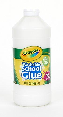 (Crayola Washable School Glue for Kids, Bulk Glue, 32 oz)