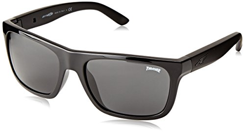Arnette Dropout Round Sunglasses,Thrasher/Grey,55 - Sunglasses Arnette