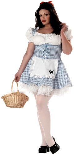 California Costumes Women's Plus Size-Storybook Sweetheart, Blue/White, 2XL (18-20) Costume