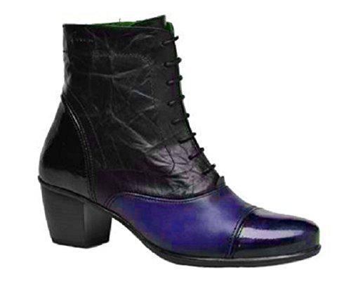c34e874f3804 11sunshop Leather Ankle Boots Model Charlot HGilliane Design EU 33 to 44  Blue