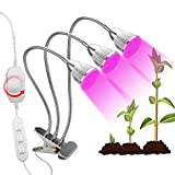 Cheap [2018 Upgraded] LED Grow Light,Triple Heads Grow Lamp for Indoor Plants with 360° Adjustable Flexible Gooseneck Rotary Dimmer Switch for Seedlings Flower Herbs Hydroponic Garden Greenhouse Office