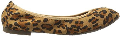 TRAUM-PAAR-Frauen Latte Ballet Flat Leopard