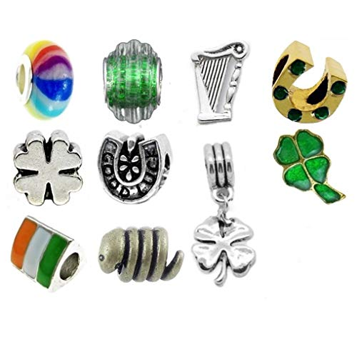 039c5fa46 Timeline Treasures European Charm Bracelet Charms and Beads for Women, DIY  Jewelry, Lucky Irish