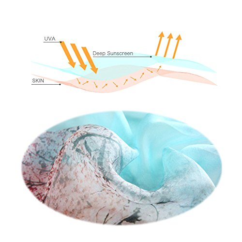 STORY OF SHANGHAI Womens 100% Mulberry Silk Head Scarf For Hair Ladies Silk Scarf Gift for Valentine's Day