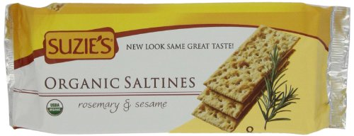 Suzie's 100% Organic Crackers, Rosemary Sesame, 8.8-Ounce Packages (Pack of 12)