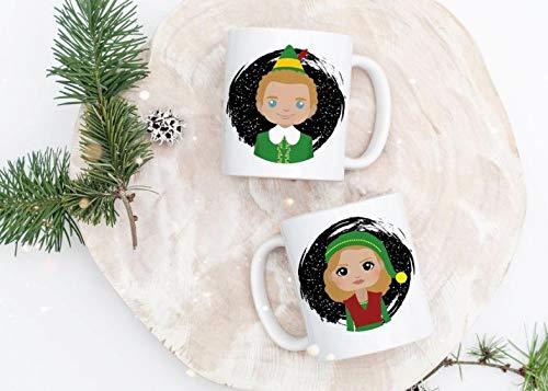 Elf Mug - Buddy the Elf Mug - Buddy and Jovie Mug - Cute Christmas Mug - Christmas Gift - Cute Elf -