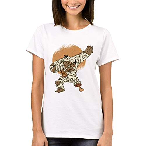 KICG Halloween Women T-Shirt Ladys Dabbing Mummy Printed Tops Short Sleeve -