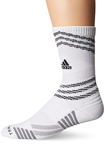 Basketball Team Socks (adidas Speed Mesh Basketball/Football Team Crew Socks, White/Lgh Solid Grey/Light Onix/Black, Large)