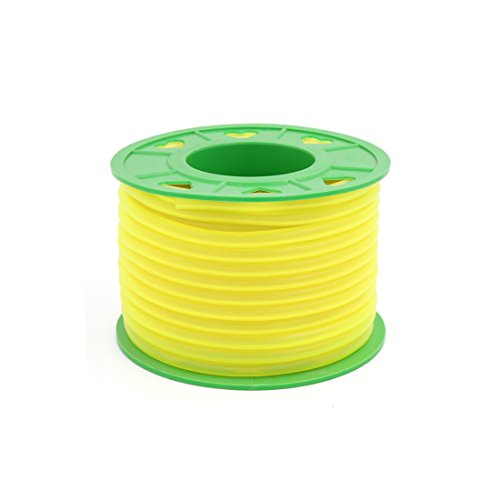 Line Fuel Yellow - Uxcell a16070200ux0160 Motorcycle 18M Yellow Silicone Petrol Oil Fuel Hose Line Pipe Tube Roll