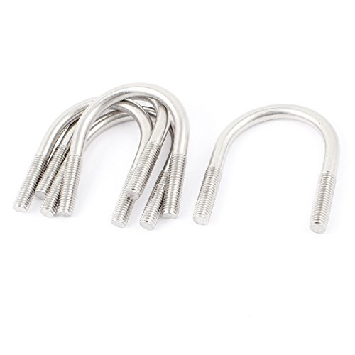Sruik Tool 5 Pcs Silver Tone 304 Stainlesss Steel Round Bend U Bolt 8mm x 45mm by Sruik Tool