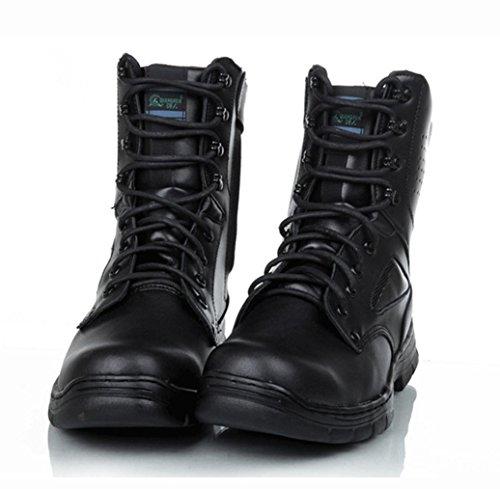 WZG Hombres de comando botas botas de Martin botas botas de los zapatos masculinos de herramientas militares de alto ayuda botas de combate del desierto Black