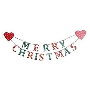 Shabby chic Merry Christmas Garland / Bunting: Amazon.co.uk ...