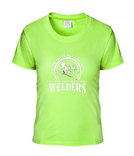 Beatles Rock Women's T-shirt Fashion Created Equal, Some Boys Become Men Welder tee (Charles Cotton Yarn)