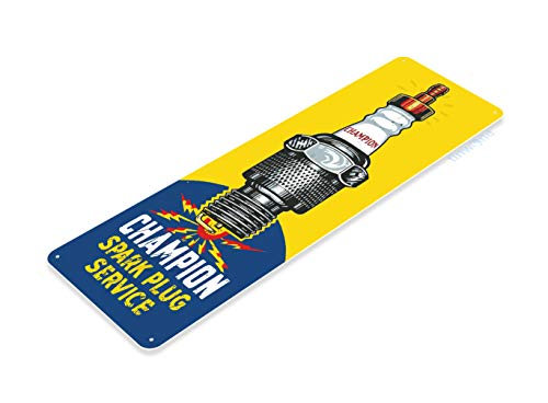 (Tinworld Tin Sign Champion Service Retro Spark Plugs Gas Garage Auto Shop Cave Metal Sign Decor A849 )