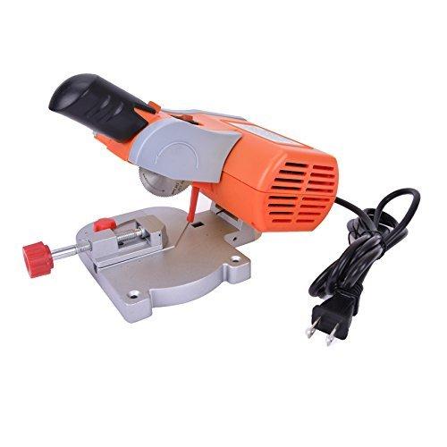 Premium Quality 110 Volt Mini Bench Cut-off Saw Steel Blade Cutting Metal Wood Plastic with Miter Gauge