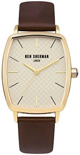 Ben Sherman Men's Quartz Metal and Leather Casual Watch, Color:Brown (Model: - Glasses Sherman Ben