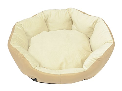JEMA Pets Octagon Round Bed - Oval Cuddler Memory Foam Inner Comfortable Colorful With Washable Cover Non-skid Soft & Durable Memory Foam Oval Beds