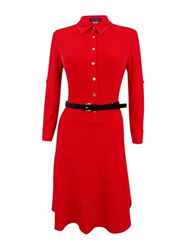Tommy Hilfiger Women's Matte Jersey Swing Dress, Scarlet, 10
