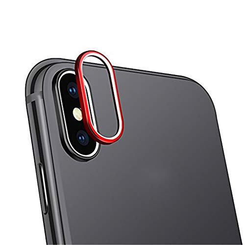 SHL 9H Hardness Back Camera Lens Tempered Glass Film Protector Cover For iPhone XS Max 6.5 inch (Red)
