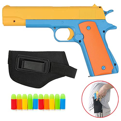Toy Gun - 1Pcs Toy Pistols Brand New Realistic Colt 1911 Toy Gun With Tactical gun Holster and Luminous Soft Bullets Pistol -