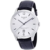 Tissot Men's 'Chemin Des Tourelles' Swiss Automatic Stainless Steel and Leather Casual Watch, Color:Black (Model: T0994071603700)