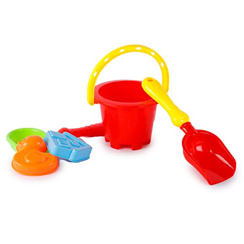 Webby Beach Castle Water Tools, Sand, Beach Toy for Kids,5 Pcs