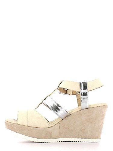 Silver Sandales Luca compensées 290639 Femmes Latte stefani HCSqwzF