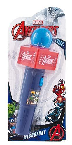 Microfone com Som Avengers Etitoys Azul/Vermelho