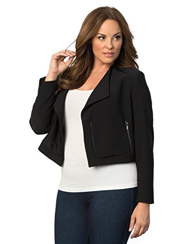 Women's Plus Size Leigh Jacket by Lyssé 2X Black