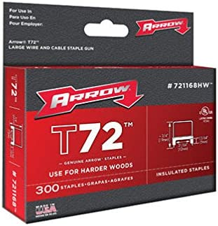Arrow Fastener 721168HW 31//64 T72 Hardwood Insulated Staples