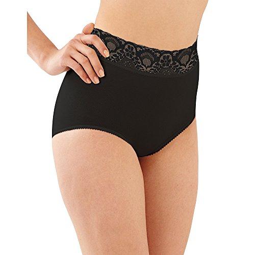 Bali Lacy Skamp Brief Panty, Black, 8 (Bali Lacy Brief)