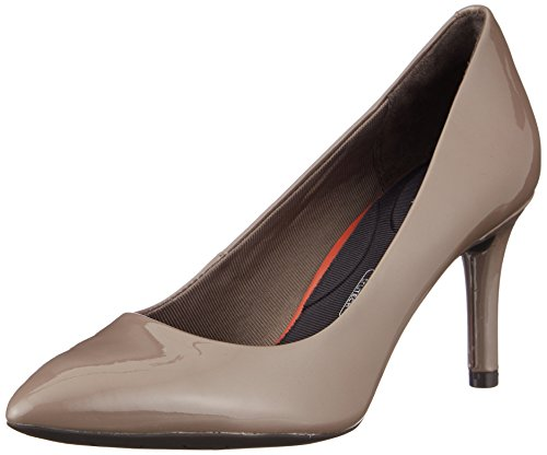 Mujer Total Toe Tacones Pearl Pointy Grey Rockport Motion Cerrados 75mm Patent Pump Beige Para taupe zqxAYdIYw