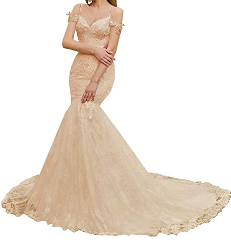 Women's Appliques Mermaid Wedding Dresses for ()
