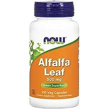 NOW Alfalfa Leaf, 500 mg, 100 Veg Capsules