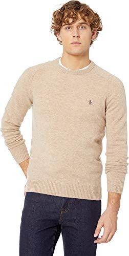 Original Penguin Men's Solid Lambswool Crew Sweater, Kelp, X-Large