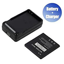 Battpit™ New Replacement Mobile / SmartPhone / Cell Phone Battery + Charger (With USB Output) for Samsung EB575152LA (1500 mAh) (Ship From Canada)