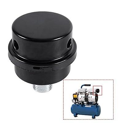 "GLOGLOW 1/2"" Air Silencer Filter, Thread Connector Muffler Filter Metal Intake Noise Filter for Oil-less Air Compressor"