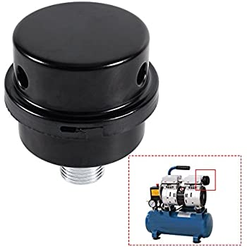 Air Compressor Silencer Filter, Metal Air Compressor Intake Filter Sound Muffler Silencer 20mm Thread (1/2