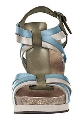 Sandalia de tacón alto de piel de Dini Patriia multicolor - carbón