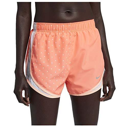 Nike Women's Dri-Fit Tempo Star Running Shorts-Crimson Pulse/White-Medium
