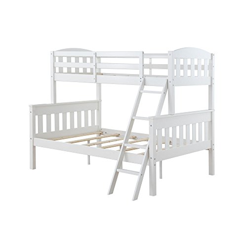 Dorel Living Airlie Twin over Full Bunk Bed, (Bunk Full Bed)